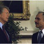 President Carter with King Hussein of Jordan, 1977