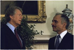 President Carter with King Hussein of Jordan, 1977